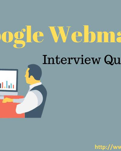 Google Webmaster Interview Questions