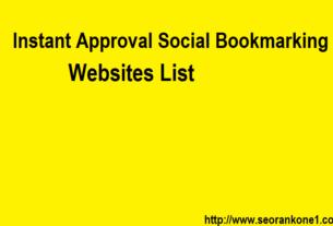 Instant Approval Social Bookmarking Websites