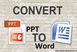 Convert ppt to word