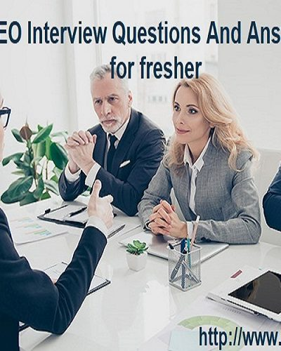 SEO Interview Questions for Fresher
