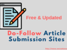 Dofollow Article Submission Sites
